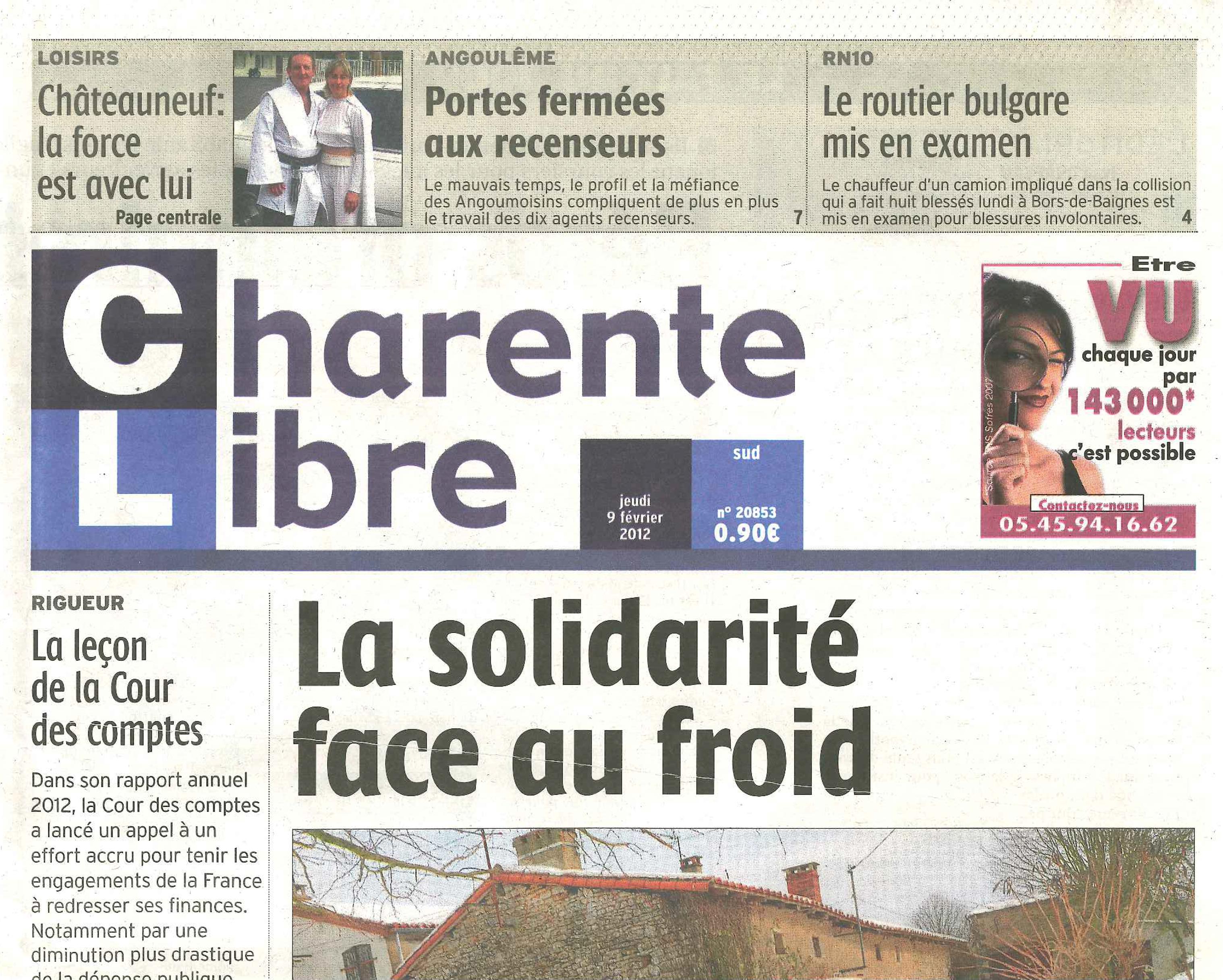 Charente libre – 9 février 2012