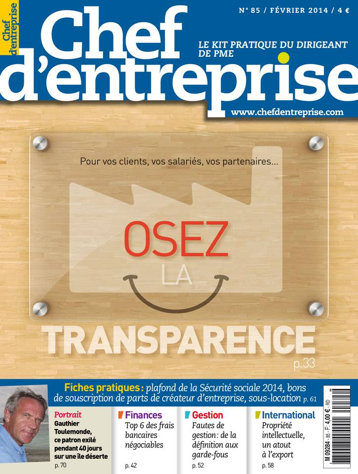 Chef d'entreprise n°85 – février 2014